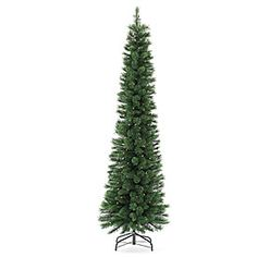 7' Pre-Lit Artificial Christmas Tree, Hard Needle with Clear Lights at Big Lots.
