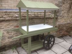 FLORISTS ETC WOODEN FLOWER CART / MARKET BARROW / HAND CART RUSTIC