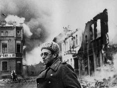 Soviet war correspondent for the Red Star Vasily Grossman in Germany