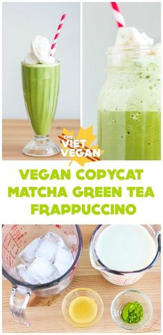 Vegan Starbucks Copycat Matcha Green Tea Frappuccino | The Viet Vegan | Save your wallet and make your own at home!