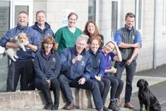 Staff at Kelso's Galedin Vet Surgery. Back row, left to right, Iain lathangie , Michael Kyle, Alexa Bryce, Marion Hutcheson and Tom sparks. Front row, Sheila Fleming, Robert Anderson, Lynne Cruickshanks, Terri Steele.