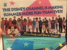 Disney Cast Member, Mickey Mouse Club, Youre Invited, Disney Channel, Tours, Invitations, Studio, Party, Kids