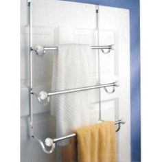 Elegant InterDesign York Over The Shower Door Towel Rack, White And Chrome. Find  This Pin And More On Bathroom Knick Knacks ...
