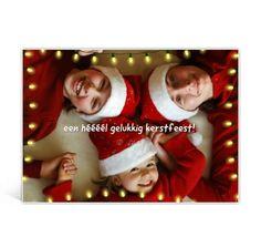 Foto kerstkaart met lampjesslingers / christmas card with picture and chistmas lights