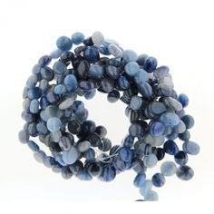 Margele Bijuterii Cuart Albastru nugget 8x8 - 13x9 mm Hanukkah, Tropical, Wreaths, Decor, Crystal, Decoration, Door Wreaths, Deco Mesh Wreaths, Decorating
