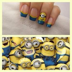Minion nails! For Halloween ;)