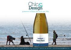 Etiquette Vin blanc charentais VENT FRAIS pour FDL