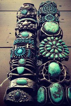 Vintage Southwestern Turquoise Bangles                                                                                                                                                                                 More