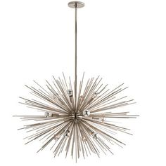 ZANADOO LARGE CHANDELIER (POLISHED NICKEL), In Stock, Arteriors