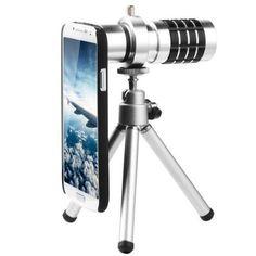 Lentes cámara de telefono 12X + Tripode + funda para Samsung Galaxy S4 SIV GT-i9500 DC321 de XCSOURCE, http://www.amazon.es/dp/B00CQ253WU/ref=cm_sw_r_pi_dp_Yh3mub0SXFPTZ