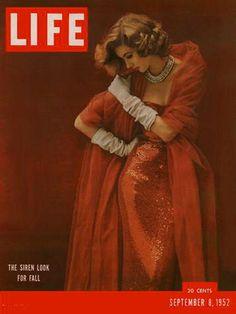 1950s model Suzy Parker covering LIFE magazine 1952