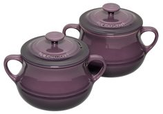Le Creuset Cassis soup bowls - as received from my secret santa, and very lovely they are too!