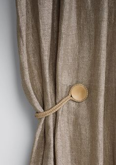 HORUS is a further refinement of the classic tie-back and combines an elegant… Tassel Curtains, Lined Curtains, Curtains With Blinds, Drapery Fabric, Window Curtains, Curtain Accessories, Home Accessories, Home Furniture, Furniture Design