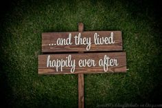 ...And they lived happily ever after (yard sign for wedding or valentine)