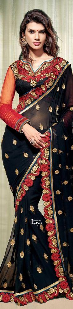 ♔LAYA♔.❋*✿SAREES.✿*❋.♔ India Fashion, African Fashion, Girl Fashion, Saree Blouse Patterns, Saree Blouse Designs, Indian Dresses, Indian Outfits, Cheongsam, Hanfu