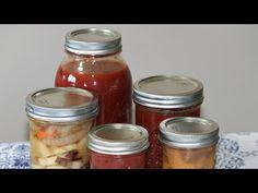 Cómo envasar conservas y salsas - YouTube Mason Jars, Frozen, Canning, Recipes, Youtube, Pickling, Preserve, Healthy Recipes, Eating Clean