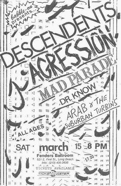 Fenders – Page 5 – Los Angeles Area Hardcore and Punk Archive Punk Poster, Los Angeles Area, Photo Galleries, Writing, Flyers, Mad, Punk Rock, Ruffles, Being A Writer