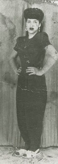 unidentified Zoot Suit Woman or a Pachuca, from the 1940s. Photo Identifier #64674 Arizona Historical Society