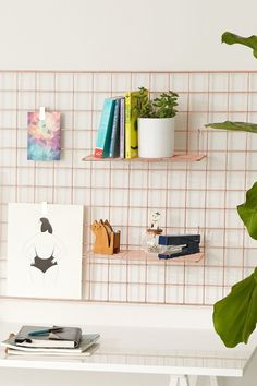 Wire Wall Grid Shelf from Urban Outfitters. http://www.urbanoutfitters.com/urban/catalog/productdetail.jsp?id=38886859