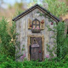 Ladybug Fairy Door w/hinged Door: Fairy Garden Landscaping Miniature Door