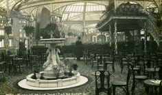 Archive black & white photograph of the interior of the Palace Pier, Brighton, East Sussex
