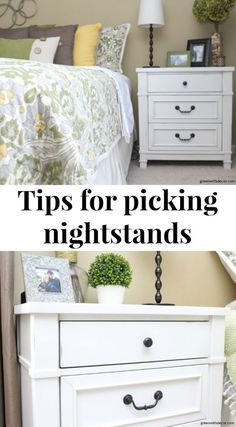 Picking pretty new nightstands + tips to keep them organized