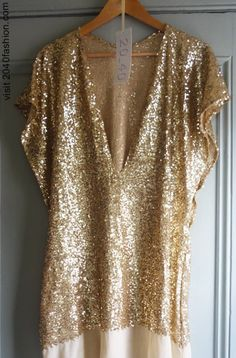 Gold and sparkles.