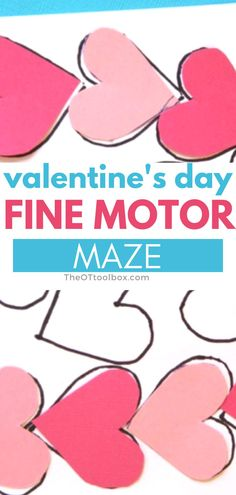 Use this Valentine's Day maze to help kids develop fine motor skills and visual perceptual skills needed for handwriting and reading. This is a good occupational therapy intervention for teletherapy because it needs only paper, pencil, and scissors. Visual Perceptual Activities, Puzzle Crafts, Visual Memory, Classroom Environment, Help Kids, Puzzles For Kids, Occupational Therapy, Family Love, Fine Motor Skills