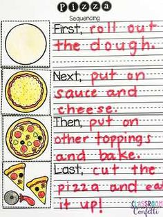 How to Make a Pizza Informative Writing This yearround Garden Journal is perfect for use with your class garden club or whole school Varying options allow you to create y. First Grade Freebies, Kindergarten Freebies, 1st Grade Worksheets, Kindergarten Writing, Teaching Writing, Pre Writing, Kindergarten Teachers, Procedural Writing, Informational Writing