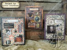 today's tutorial features crypticcreativity combining nostalgic imagery, translucent tiles, and distressed detail. these dimensionalgreetings by richele christensen are perfect for your upcoming...