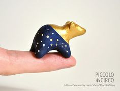 Gold Ursula Bear Edition 1 Totem Figurine by PiccoloCirco on Etsy