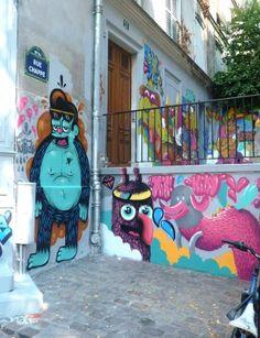 M.Patate: peinture Jeanspezial Galerie Chappe 21 rue Chappe Paris