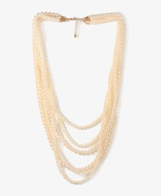 Layered Pearlescent Necklace | FOREVER21 - 1021840400