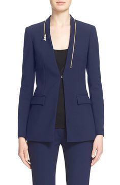 Free shipping and returns on Versace Collection Zip Detail Cady Blazer at Nordstrom.com. Traditional suiting turns edgy on this tailored stretch-cady blazer designed with a gleaming goldtone zipper at the neckline in lieu of a lapel.