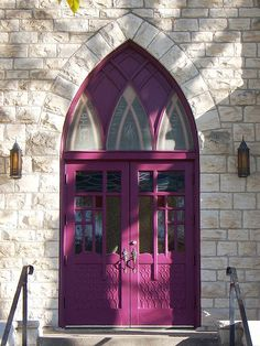 Manhattan, KS Congregation Church doors by army.arch, via Flickr