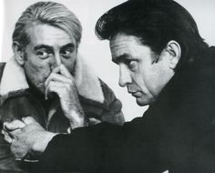 1970 Rod McKuen and Johnny Cash 02 In Nashville during rehearsal for an episode of Cash's TV series. Photo by M. James, ABC-TV.21