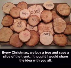 Christmas tree, save a slice of the trunk. Christmas Time, Christmas Crafts, Christmas Patterns, Real Christmas Tree, Crochet Christmas, Holiday Fun, Xmas Tree, White Christmas, Merry Christmas