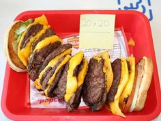 Would you ever eat this? 20 x 20 at In-N-Out..that's right 20 patties!