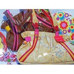 £25.00 Chupa Chups Large Shoulder Hippy Bag. Available in Dark Yellow, Deep Pink and Tan Brown