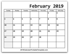 February 2019 Calendar Printable Template with Holidays PDF Word Excel USA UK February 2019 Printable Calendar Free Blank February Calendar 2019 Editable February Calendar, 2019 Calendar, March, Light Effect Photoshop, Italian Buffet, Dc Weddings, Natural Skin Care, Projects To Try, Good Food