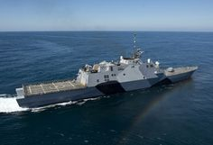 The littoral combat ship USS Freedom (LCS 1) is underway conducting sea trials off the coast of Southern California. Freedom, the lead ship of the Freedom variant of LCS, is expected to deploy to Southeast Asia this spring. (U.S. Navy photo by Mass Communication Specialist 1st Class James R. Evans/Released)