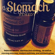 Ginger as a stomach remedy. Relieves nausea, diarrhea, morning sickness, motion sickness, vomiting, and stomach aches. dōTERRA Essential Oils http://www.hookedonoil.com