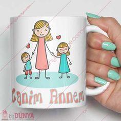 Anneler gününe veya doğum gününe özel olarak hazırlanmış kupa bardak modelini tercih edebilirsiniz.