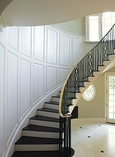 Preview - Paint-grade wainscot on a curved stairwell - Fine Homebuilding Article