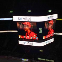 #Mitel branding/logos on centre ice at the Canadian Tire Centre.