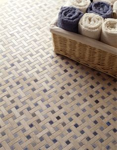 Artistic Tile |  Features a custom Canestro Basketweave cut.