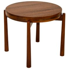 Small Danish Round Table - Jens Quistgaard for Nissen | From a unique collection of antique and modern side tables at http://www.1stdibs.com/furniture/tables/side-tables/
