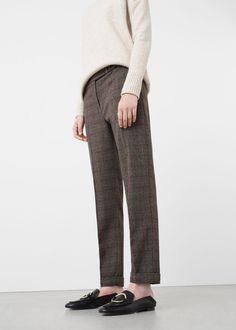 Check suit trousers   MANGO