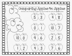 Math Worksheets For Kids Comparing Kindergarten Math Activities, Numbers Kindergarten, Math Numbers, Preschool Math, Kindergarten Classroom, Teaching Math, Teaching Ideas, Classroom Ideas, Children Activities