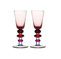 Kieliszki do wódki/likieru Spectra, 2-pak, różowe